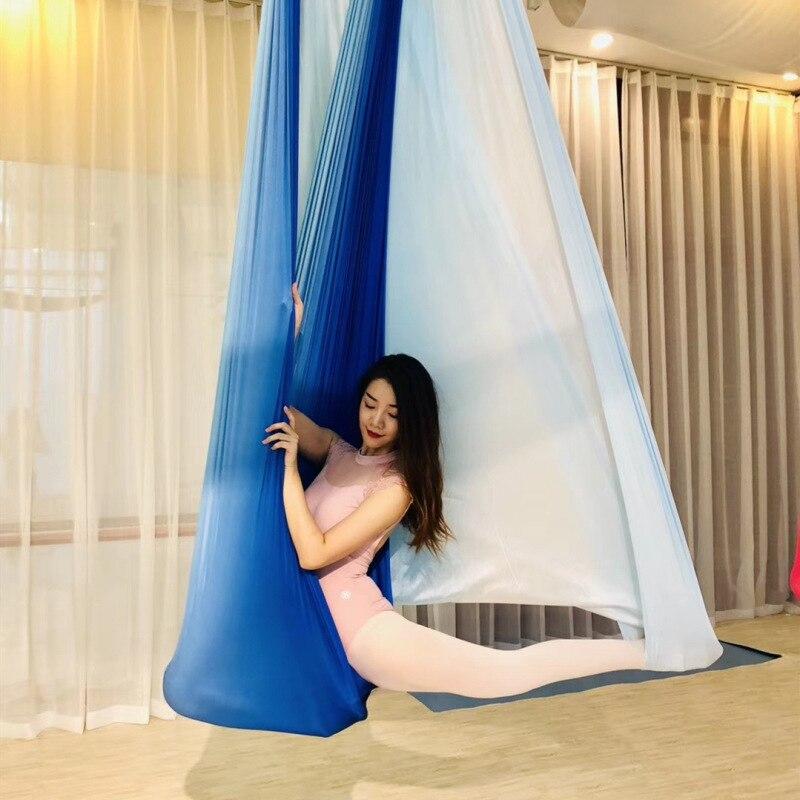 Multicolore 2018 nouveau hamac de Yoga Anti-gravité aérien balançoire lit de Yoga volant musculation Gym équipement de Fitness Inversion trapèze - 2