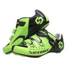 цена Sidebike Ultralight Breathable Men's Road Bike Shoes with Buckle Cycling Shoes Bicycle Sneaker Self-locking Zapatos Ciclismo онлайн в 2017 году