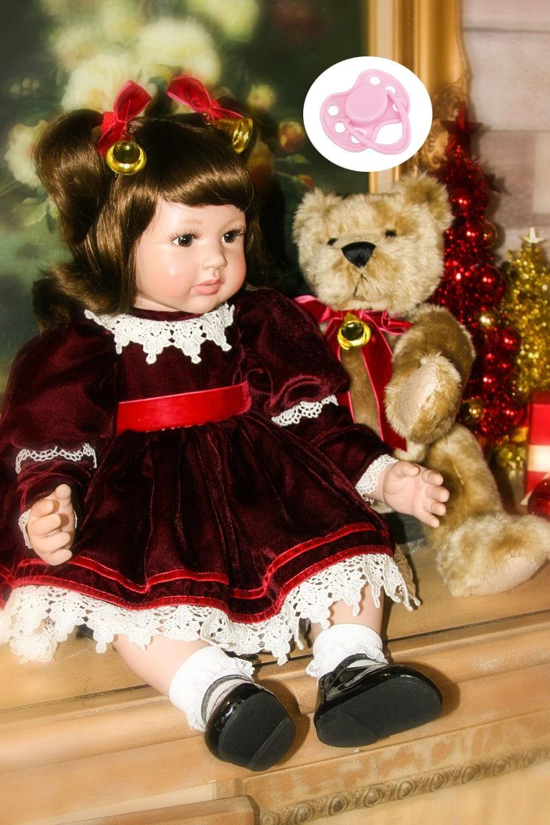60 cm Silicone Reborn Bébé Poupée Jouets Comme Réel 24 pouces Vinyle Princesse Enfant Filles Bébés Poupées Enfants Magnifiquement D'anniversaire présent
