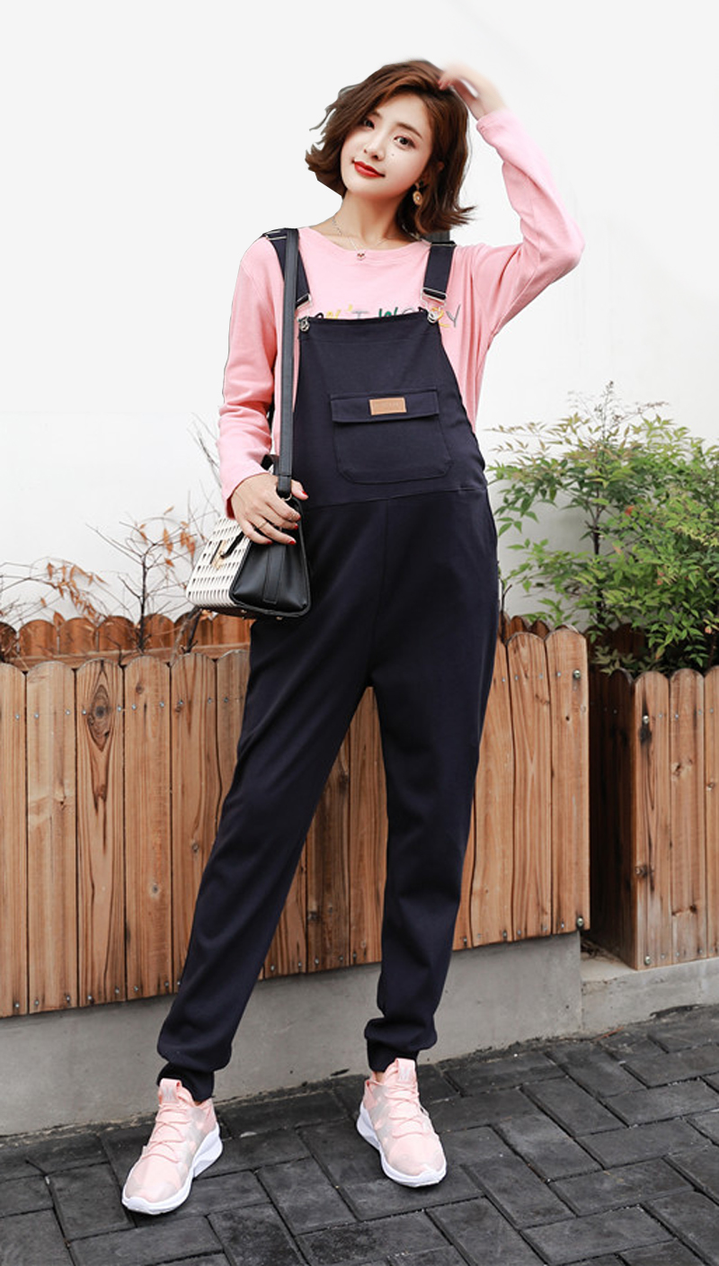 4982666d061e1 Women's Cotton Overall Maternity Jumpsuit Loose Rompers Baggy Pants ...