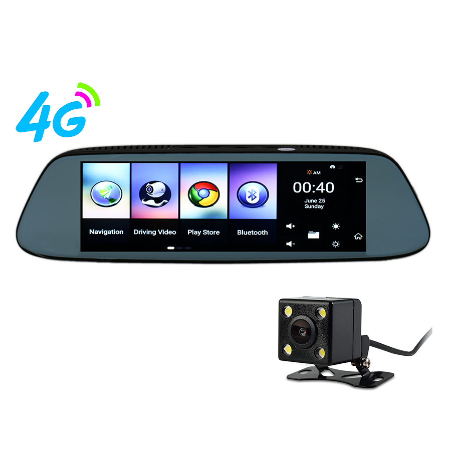 Otstrive 7 inch Dash Cam GPS Navigation Android Dashboard Sun Shade GPS DVR  FHD 1080P Dual Lens Rear View Camera 1G RAM WiFi DVR 0f6ed083d2e