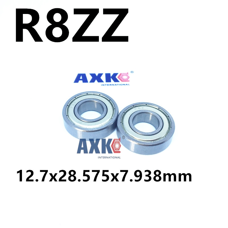 Free Shipping  R8ZZ Bearings 1/2 x 1 1/8 x 5/16 inch R8-2Z Radial Ball Bearings R8 Z print bar trance