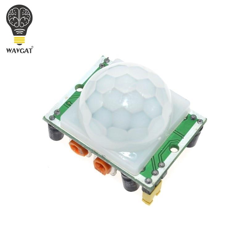 WAVGAT HC-SR501 отрегулировать инфракрасный ИК пироэлектрический инфракрасный PIR модуль датчик движения Детектор Модуль мы являемся производителем - Цвет: HC-SR501