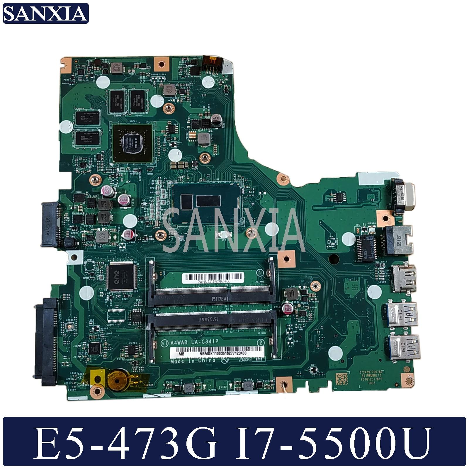 KEFU LA C341P Laptop motherboard for Acer Aspire E5 473G Test original mainboard I7 5500U GT920M
