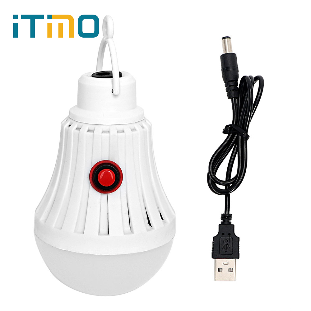 ITimo Portable Tent Light Outdoor Lighting Energy Saving Camping Lamp USB Rechargeable LED Bulb Emergency Light White купить