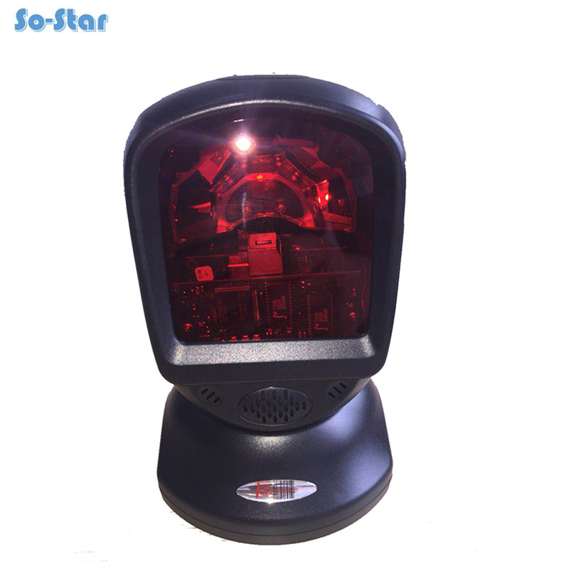 Hands Free Laser Printer Scanner Barcode Scanning Platform Barcode Scanner 1D Laser Barcode Reader for Supermarket POS