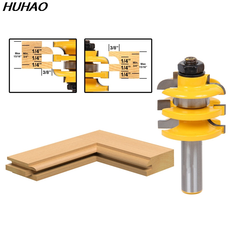 1pcs Stacked Rail & Stile Router Bit - 1/2 Shank wooden cutter Shimming Instructions 1pcs lot 20mm male right hand thread rod end joint bearing metric thread m20x1 5mm sa20t k posa20