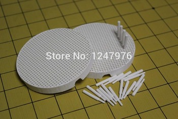 wholesale free shipping 2pcs Dental Lab Round Firing Trays with 40 Ceramic Pins