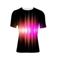 Noisydesigns Mens Tshirt Novelty Striped Print Male Leisure Tee Shirt Summer Short Sleevedsound activated led t shirt Dry Slim