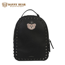 DANNY BEAR Women Korean Leather Backpack Cute Rivet Backpacks For Teenage Girls Cheap Shoulder Bags Small Travel Back Pack