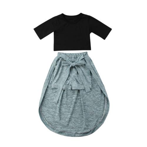 549fc457f Conjuntos de ropa de princesa para niñas y bebés, Tops, pantalones cortos,  falda de algodón, trajes de verano, Ropa para Niñas, 6 M-5 T