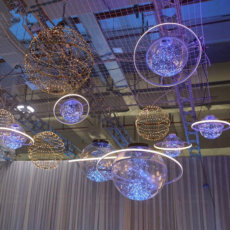 Nieuwe Collectie Shine LED Flash Ster Bal Bruiloft Showcase Decoratie Ruimte Planeet Opknoping Ornament Kroonluchter Gratis Verzending - 5