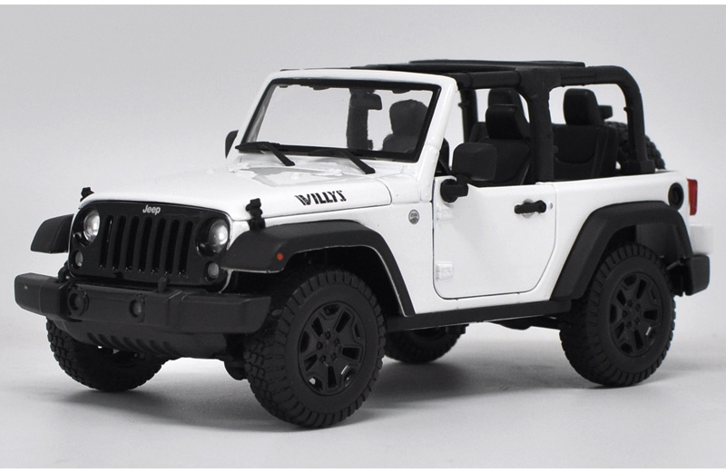 * 1/18 All New Jeep Wrangler Willys 2017 Cabrio Off Road Vehicle SUV Alloy Toy Car 1 18 scale red jeep wrangler willys alloy diecast model car off road vehicle model toys for children gifts collections