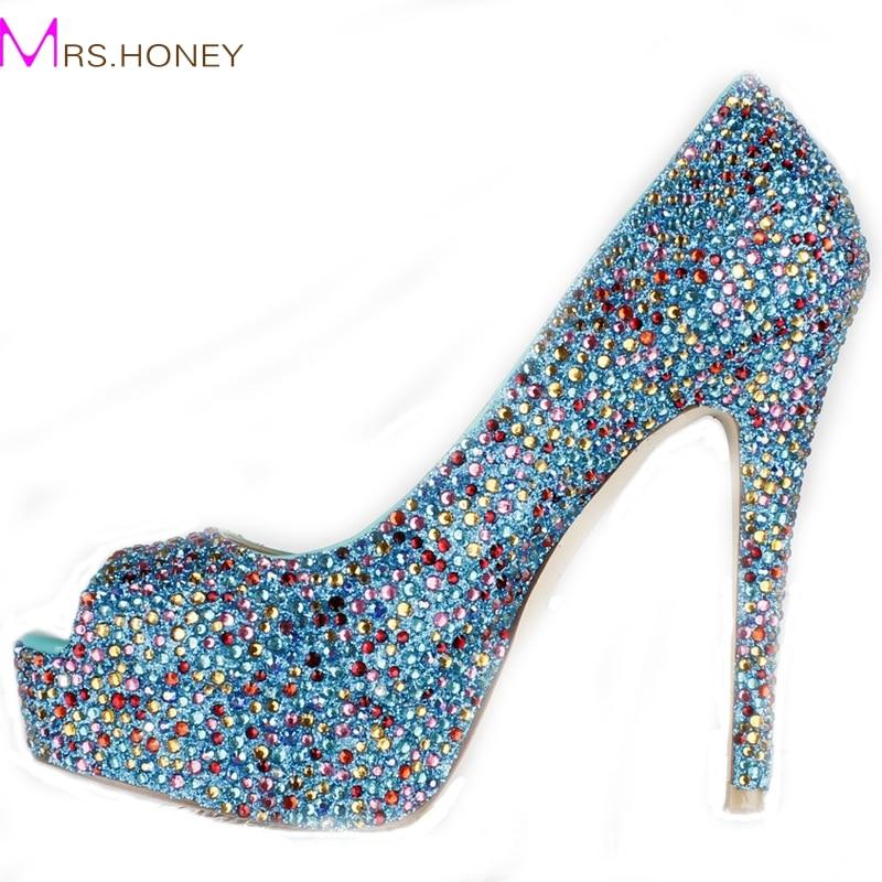 Popular Blue Rhinestone Heels-Buy Cheap Blue Rhinestone Heels lots ...
