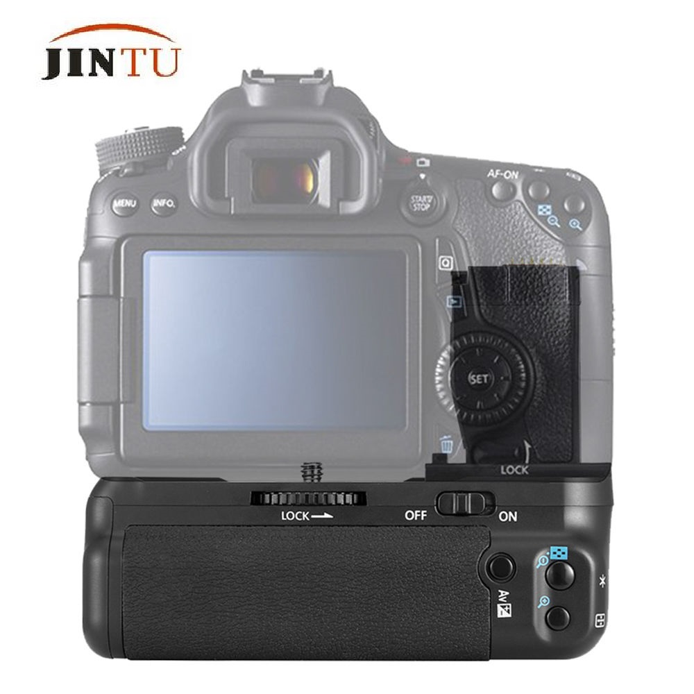 JINTU NEW Battery Grip Pack BG-E18 for Canon EOS 750D 760D Rebel T6i T6s X8i 8000D DSLR Camera Power meike mk 760d pro built in 2 4g wireless remote control vertical battery grip for canon 750d 760d rebel t6i t6s lp e17 as bg e18
