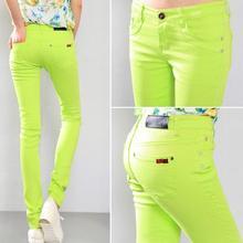 Модные женские хлопковые сексуальные брюки-карандаш ярких цветов, повседневные обтягивающие брюки, обтягивающие женские брюки размера плюс 6xl