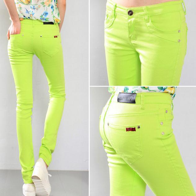 Fashion Women cotton Sexy Candy Color Pencil Pants Casual Skinny Pants slim female trousers plus size 6xl