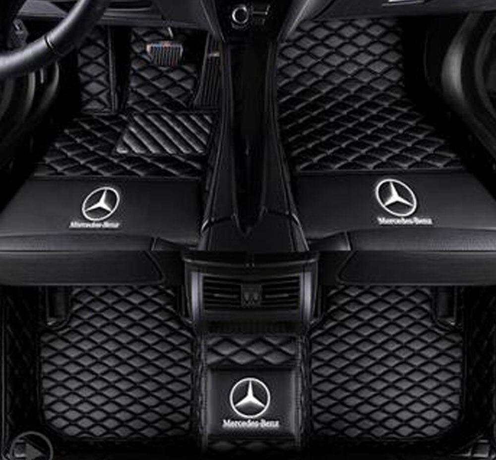 Tir réel Tapis de Sol pour Mercedes-benz Classe C C180 C200 C230 C250 C280 C300 C350 C350E C400 C43AMG C450AMG C63AMG W205 W204