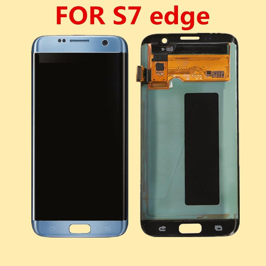 Pour SAMSUNG Galaxy S7 Bord écran lcd pour Samsung S7 Bord G935F SM-G9350 écran lcd ensemble de digitaliseur tactile