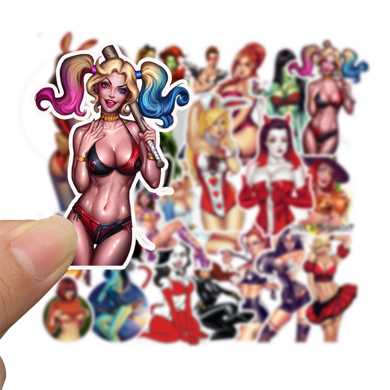Image 3 - 50Pcs Graffiti Sticker Tease Vulgar Fashion Sexy Girl Sticker Toys For Skateboard Laptop Suitcase Bike Luggage Car Waterproof-in Stickers from Toys & Hobbies