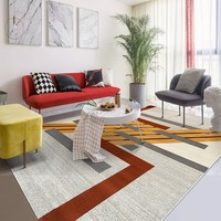 Большой размер в скандинавском стиле декоративный прикроватный коврик, INS популярный современный геометрический Коврик для гостиной, кове