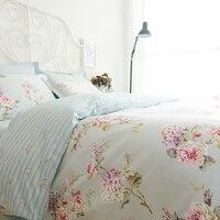 Романтический американский кантри стиль Винтаж Цветочный спальня комплект, дизайнер потертый обувь для девочек постельные принадлежности