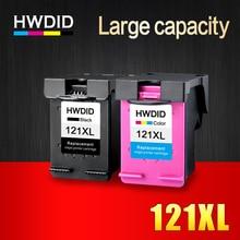 2pk 121XL Cartucho de Tinta Remanufacturado para HP 121 XL para HP Deskjet D2563 F4283 F2483 F2493 F4213 F4275 F4283 F4583 impresora