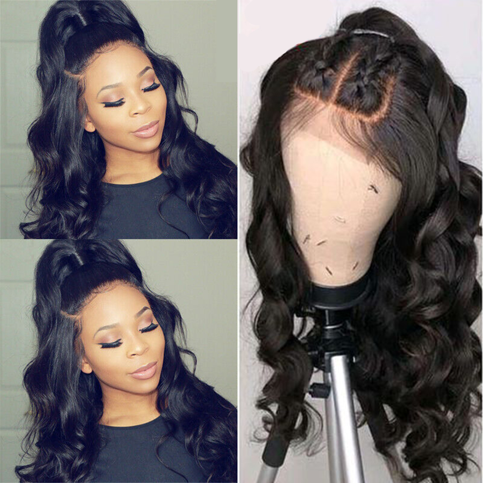 Peruvian Wig Body Wave Wig Lace Front Human Hair Wig For Women Pre Plucked With Baby Hair 4*4 Lace Wig Jazz Star Non Remy Hair(China)