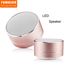 FUMALON A10 Bluetooth Wireless Speaker LED Light Mini Portable Subwoofer Loudspeaker Support TF Card FM AUX Micro Music Player
