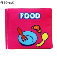 HIINST Picture Cognize Book of food Soft New Cloth Baby Intelligence Development Learn Best seller S20