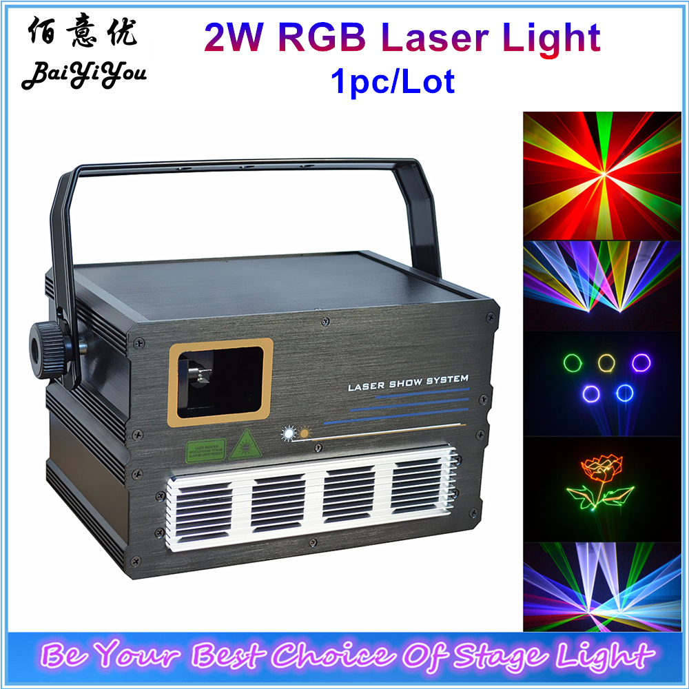 100% Quality 2w Rgb Animation Laser 30k Scanner 2w Full Color Cartoon Pattern Laser Projector Light For Dj Disco Club With I Show Software