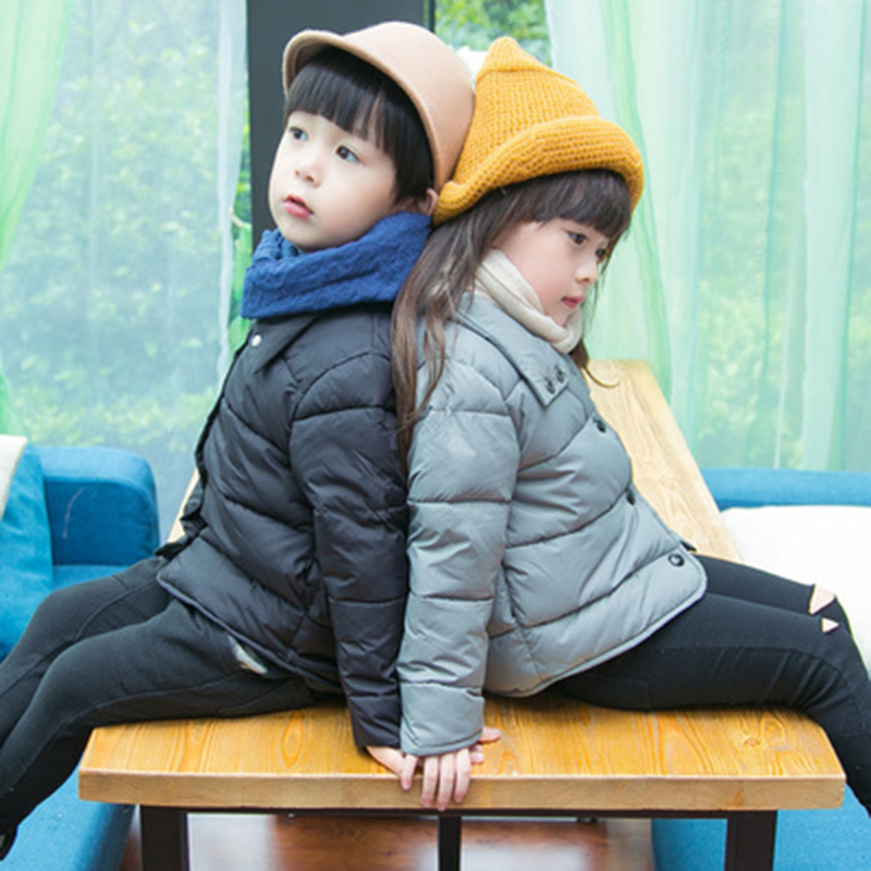XIRUBABY Warm Padded Cashmere Down Coat Boys and Girls Winter Jacket Fashion Kids Clothes Outwear Children