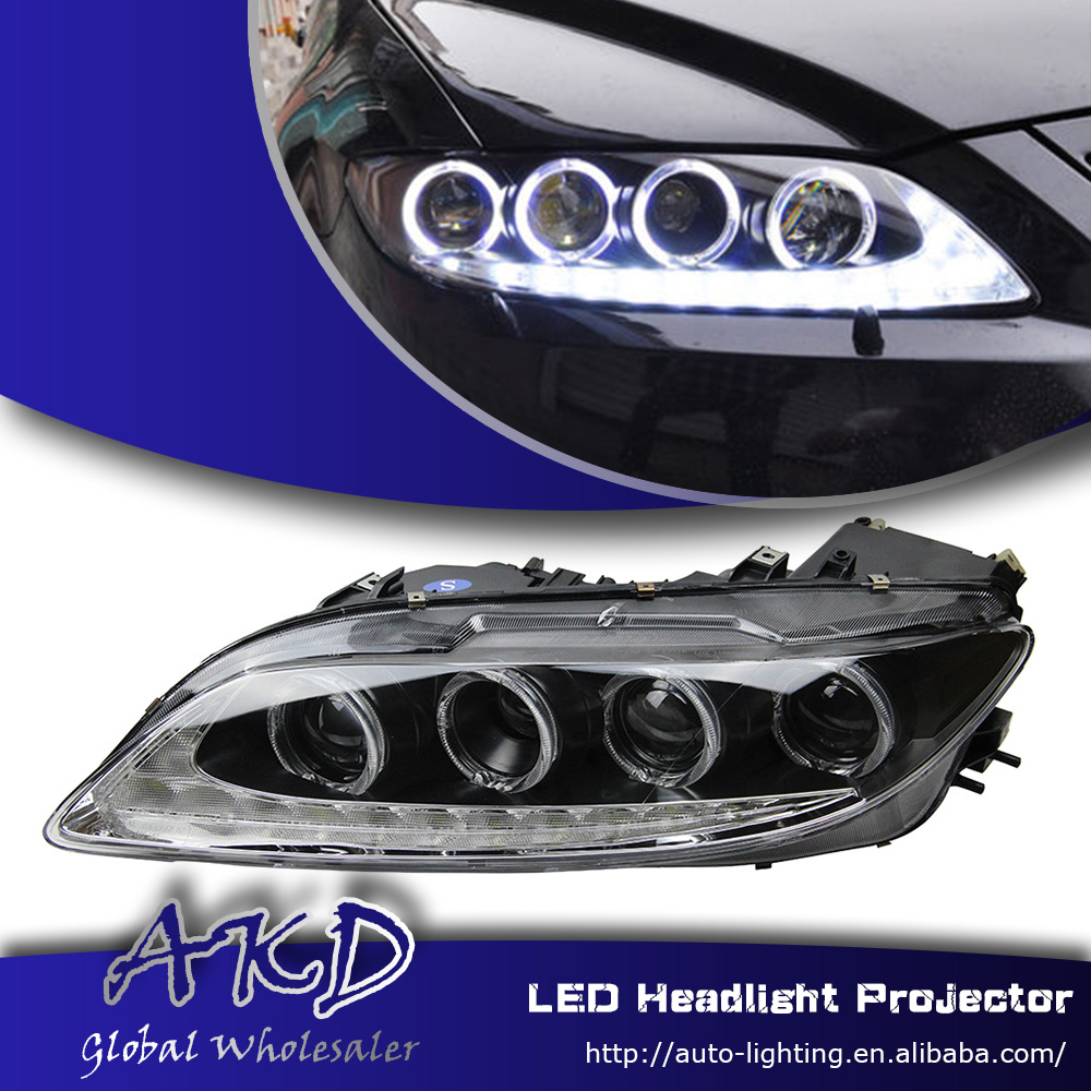 One-stop shopping styling for 2003-2014 mazda 6 led headlights mazda6 led drl...