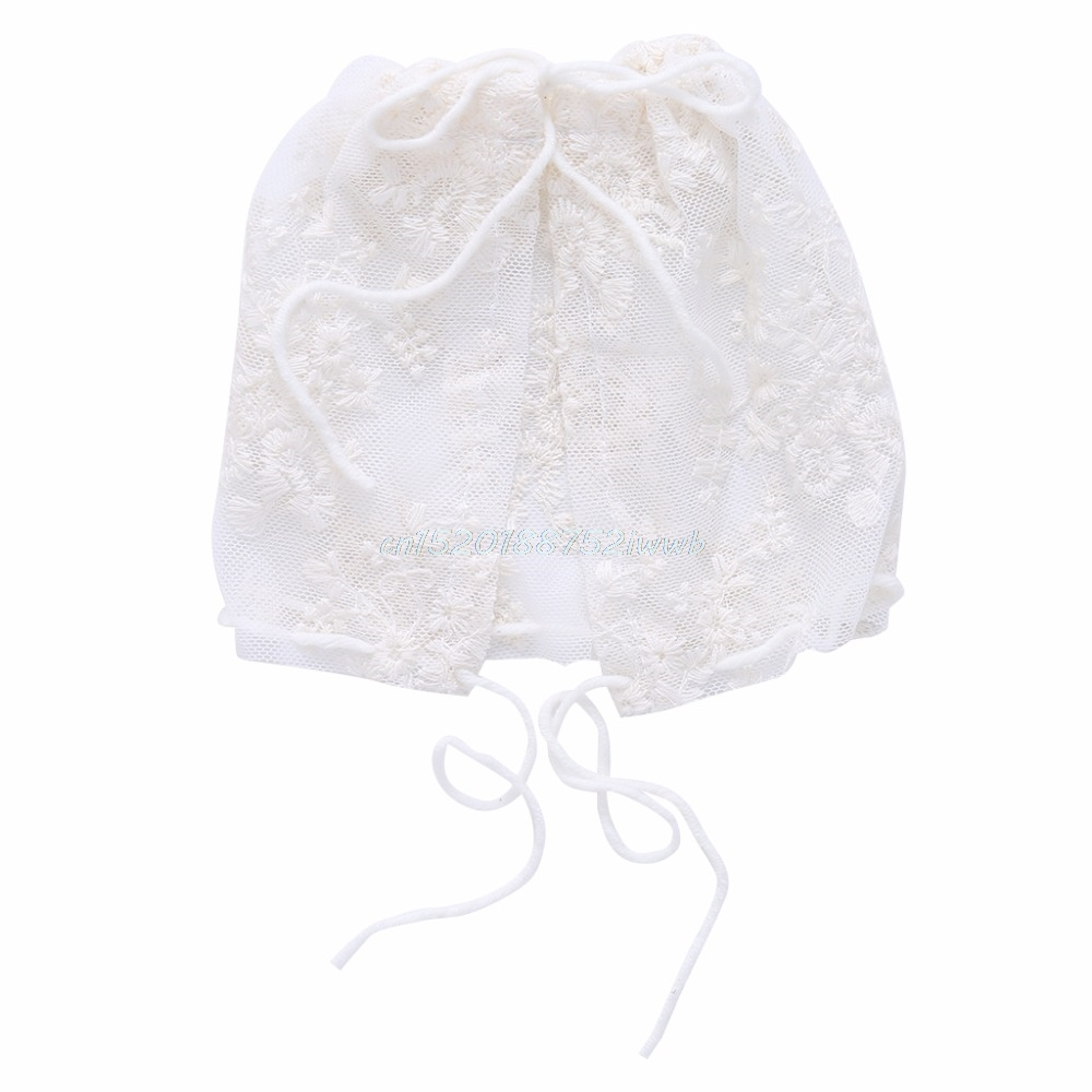 Newborn Baby Girls Toddler Infant Lace Bonnet Beanie Hat Cap Photography Props #T026#
