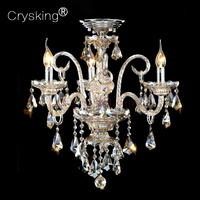 Top Luxury Free Shipping 3 Arms Small Chandelier Lustres De Sala Home With 100 K9 Crystal