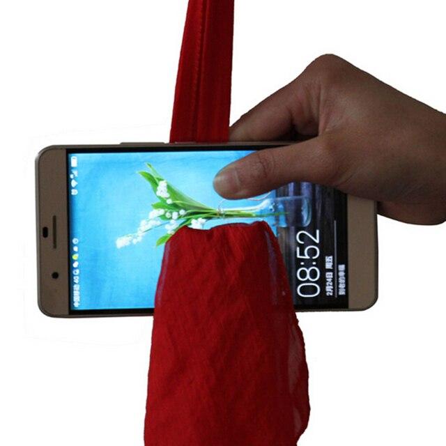 Écharpe magique à travers le téléphone, jouets amusants en soie, jouets amusants pour les magiciens, jouets vag