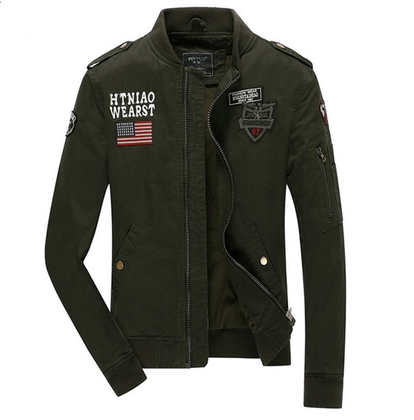 2015 Mens army soldier Jacket Washing cotton Air force one jacket Autumn men jackets Outdoor Coats 4XL WA199  -  Classic casual fashion men's and women's clothing store