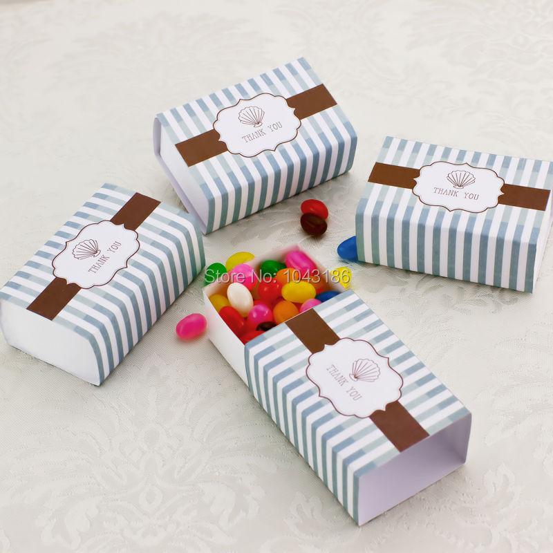 Thank You Favor Box Beach Wedding Favors Box Seashell Candy Box Unique ...