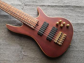 Elektryczna gitara basowa gitara 6 struny gitara basowa klon aktywne przetworniki Bass złote akcesoria tanie i dobre opinie Rosewood Maple Unisex Strona główna-schooling Beginner Profesjonalna wydajność Częściowo zamkniętym gałka Pasywny zamknięte typu