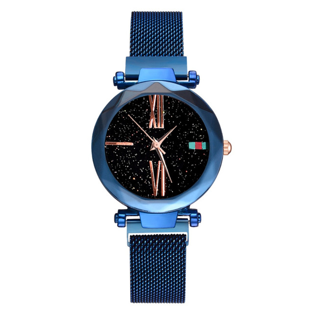 Luxury Rose Gold Women Watches Minimalism Starry sky Magnet Buckle Fashion Casual Female Wristwatch Waterproof Roman Numeral 4