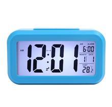 Sinh viên đầu giường thông minh đồng hồ báo thức đèn điều khiển nhiều chức năng thông minh vuông Đồng hồ nhà máy sản xuất trực tiếp điện tử trẻ em Quà tặng