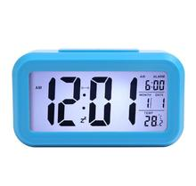 Student bedside smart alarm clock light control multi function square smart clock factory direct childrens electronic gifts