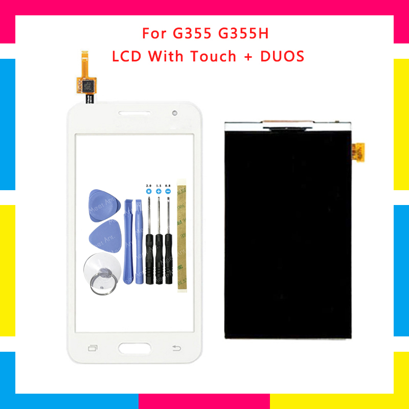High Quality LCD <font><b>Display</b></font> With Touch Screen Digitizer Sensor Panel For Samsung DUOS Core 2 SM-<font><b>G355H</b></font> G355M <font><b>G355H</b></font> G355 + Tools image