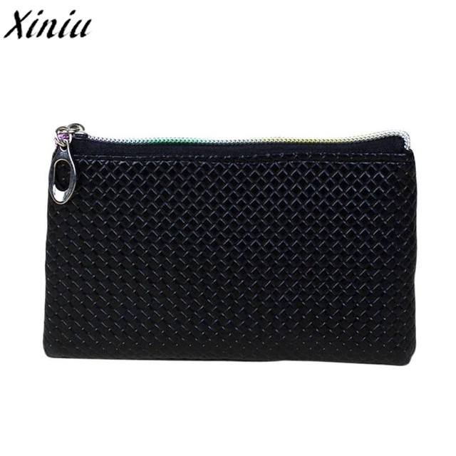 7c11def34e01 Women Coin Purse Candy Color Lattice Leather Zipper Mini Wallet Girl Small  Fresh Clutch Change Bag Monederos Mujer Monedas  1221