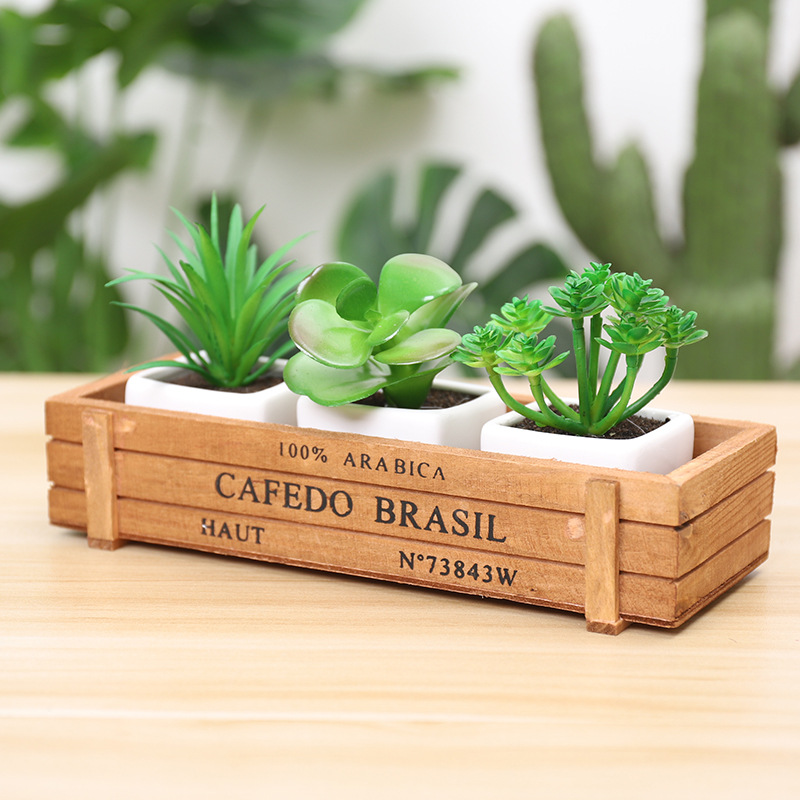 Image 3 - Retro Style Solid Wooden Box Succulent Flower Bed Garden Planter Window Box Trough Pot Plant Bed Pot Garden Supplies-in Flower Pots & Planters from Home & Garden