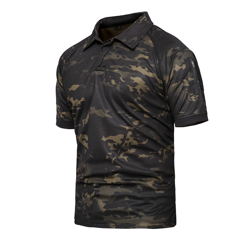 New 2019 Summer Army Polo Shirt Men Military Shirt Men Tactical Combat Polo Shirts Breathable Camouflage Tee Shirt Plus Size 5XL