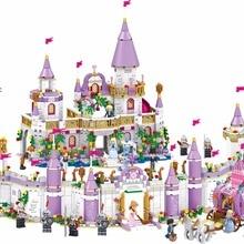 731 шт. Романтический замок принцесса друг девочка DIY модель строительные блоки для детей наборы игрушек совместимы с Legoinglys друзья
