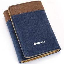 SUONAYI Leather Men Wallet Fashion Coin Pocket Brand Trifold Design Purse High Quality Male Card ID Holder