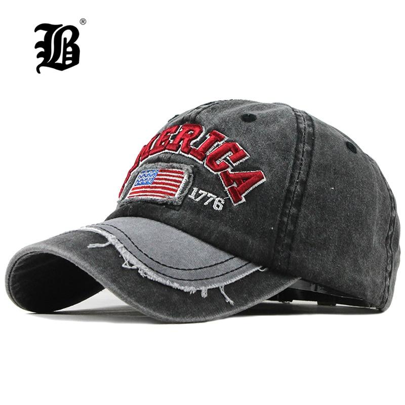 Man Cap Baseball-Cap Dad-Hat Branded Letter Men Snapback Vintage Cotton FLB for Gorras
