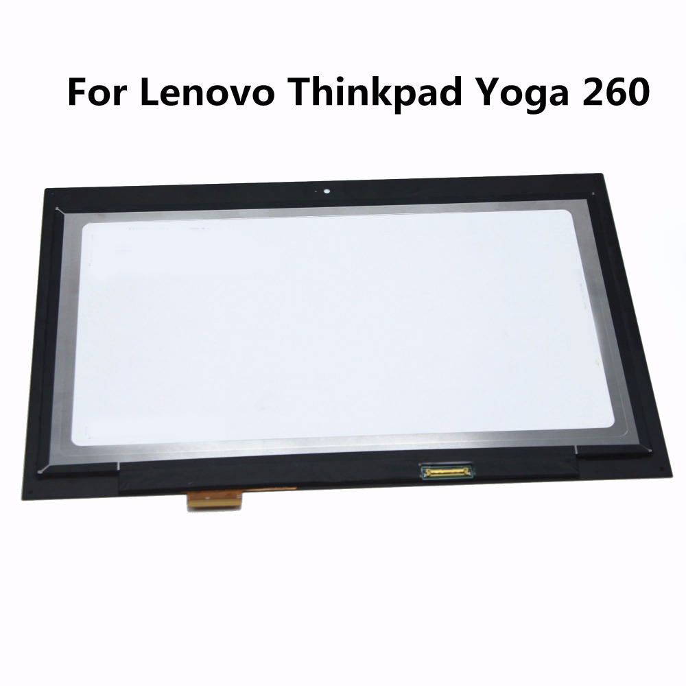 Free Shipping 12.5 inch LCD Display Touch Laptop Screen Digitizer Assembly For Lenovo Thinkpad Yoga 260 M125NWR3 R0  N125HCE-GN1 free shipping assembly display lcd